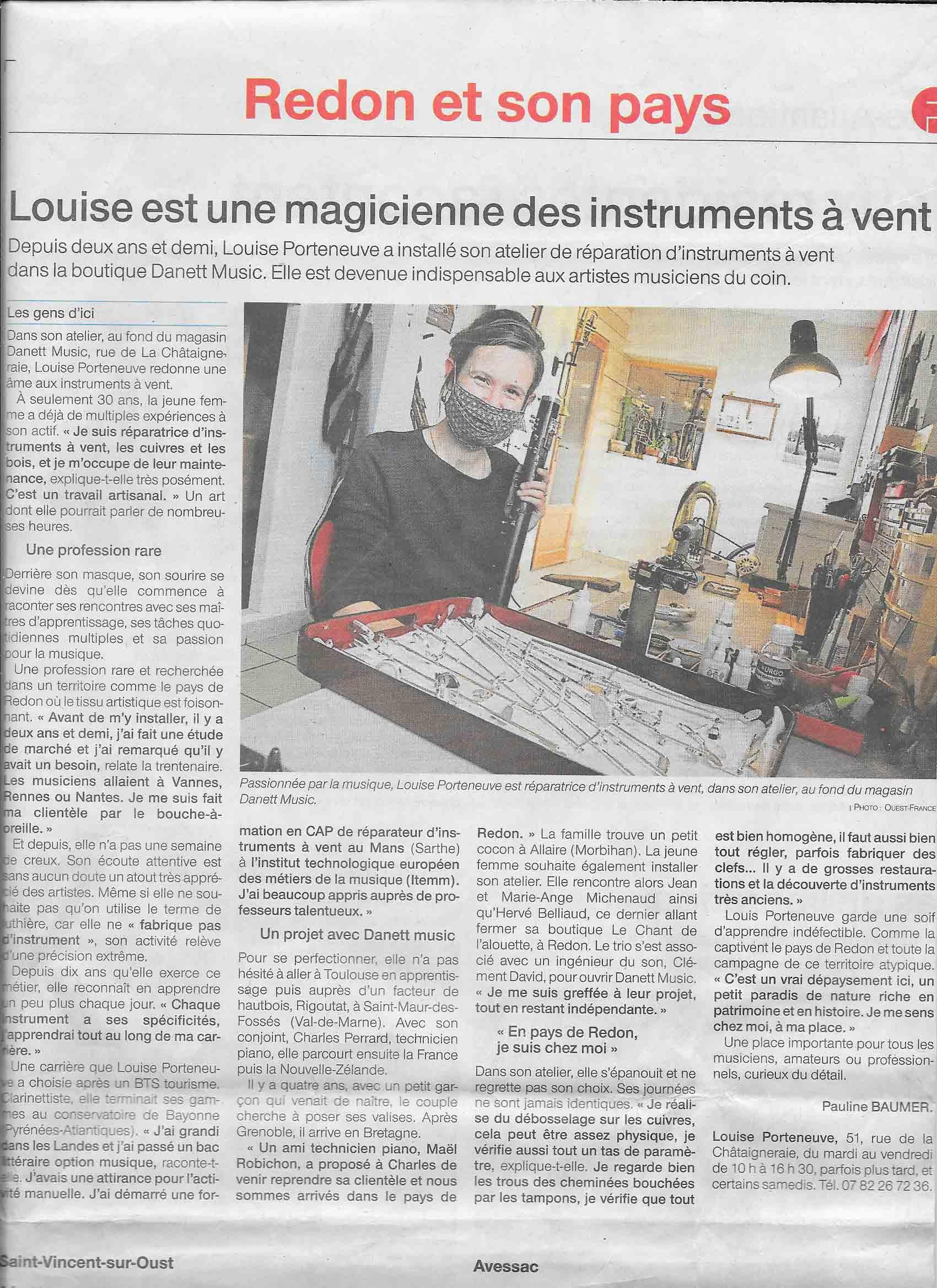 Louise est magicienne des instruments à vent – Ouest-France